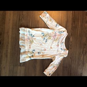 LAUREN CONRAD FLORAL SWEATER